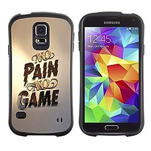 Be-Star Impreso Colorido Diseño Antichoque Caso Del Iface Primera Clase Tpu Carcasa Funda Case Cubierta Par Samsung Galaxy S5 SM-G900 ( no pain no game gold pc gaming )