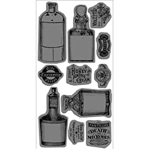 Graphic 45 Olde Curiosity Shoppe #2 Rubber Cling Stamps 4'X8'