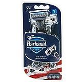 #5: Barbasol Premium Disposable Ultra 6 Plus Razor, 3 Count