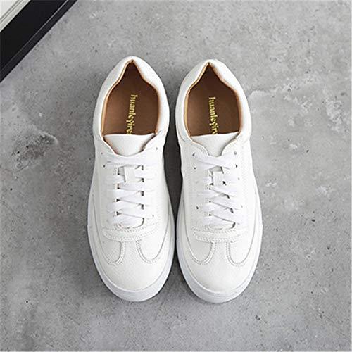 Spring Bianche ZHZNVX Scarpe White donna da Sneakers Pigskin di Comfort nZaqT