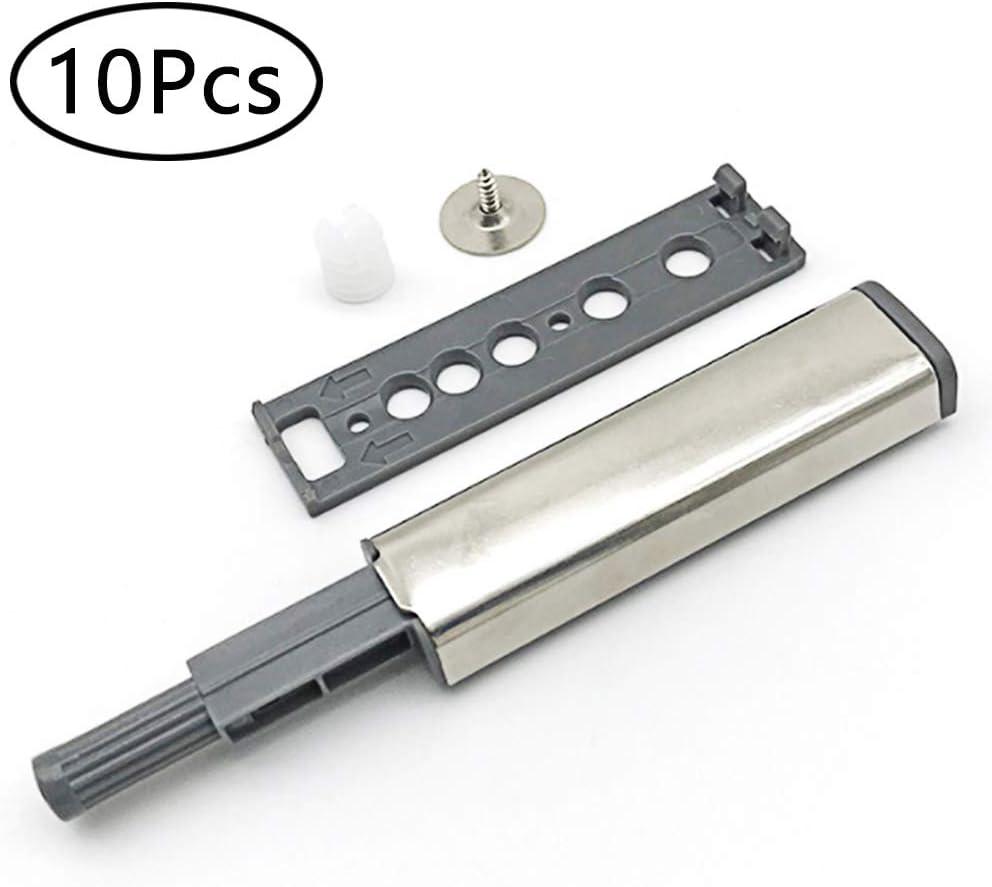 Amortiguadores Magnéticos, 10 Piezas Presionar Abrir el Pestillo de Captura para Puerta Armario Cocina Sistema de Apertura de Puertas Amortiguador para Armario Puerta Cajón