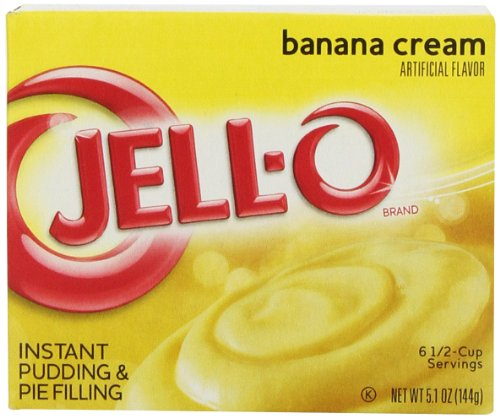 (JELL-O Banana Cream Pudding & Pie Filling Mix (5.1 oz Boxes, Pack of 24))