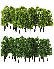 sharprepublic 40pcs 1:150& 1:200 N Model Trees Layout Train Railway Diorama Landscape Scenery