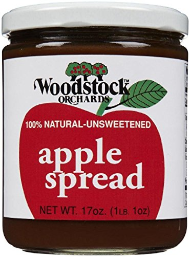 Woodstock Orchards Unsweetened Apple Spread, 17 oz made in New England