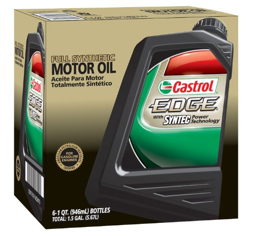 Castrol 06249 EDGE 5W-40 Advanced Full Synthetic Motor Oil, 1 Quart, 6 Pack by Castrol