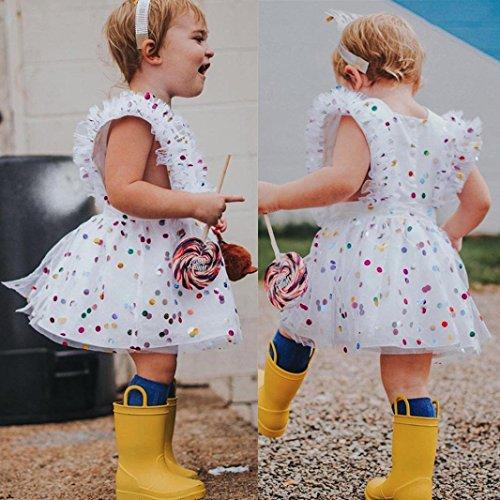 42be5d50029b Goodlock Toddler Kids Fashion Dress Baby Girls Ruffles Sleeve Dress Summer  Sequins Gauze Outfits Clothes