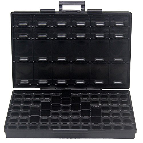 AideTek BOXALL96AS 96 Lids Anti-Static ESD Safe Enclosure SMD SMT IC diode Parts Organizer Transistor
