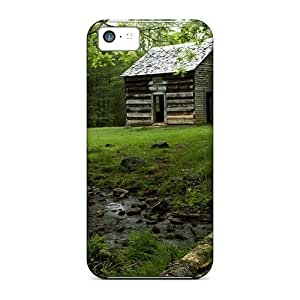 Durable Defender Case For Iphone 5c Tpu Cover(cabin In The Forest)
