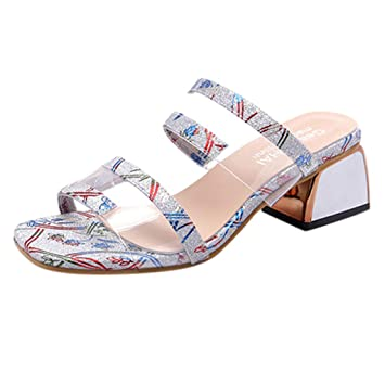 c30b9d1441 Backless Wedge Sandals for Women Youth Clearance, Jiayit Women's Slippers  Open Toe Summer Fashion Wild