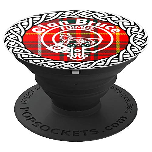 Bruce surname last name Scottish Clan tartan crest badge - PopSockets Grip and Stand for Phones and Tablets ()