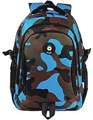 Manleno Nylon Kids Backpack Waterproof Camouflage Student Backpack Outdoor Daypack School Bag