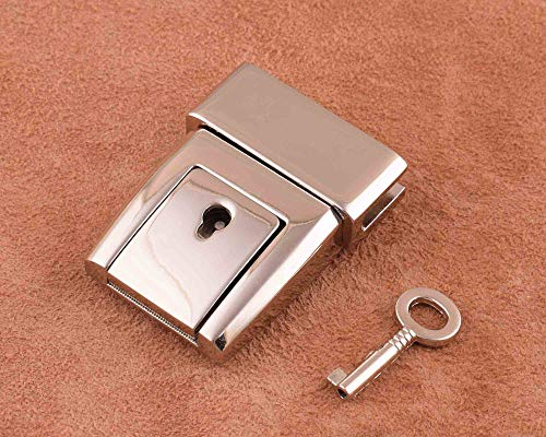 Purse Lock Padlock,silver Latch Lock,Handbag Lock for Handbag Purse Wallet Hardware Supplies Accessories Leather Leather craft Handcraft