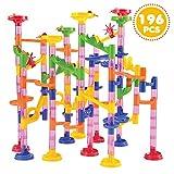 Toys : JOYIN 196 Pcs Marble Run Compact Set, Construction Building Blocks Toys, STEM Learning Toy, Educational Building Block Toy(156 Translucent Plastic Pieces+ 40 Glass Marbles)