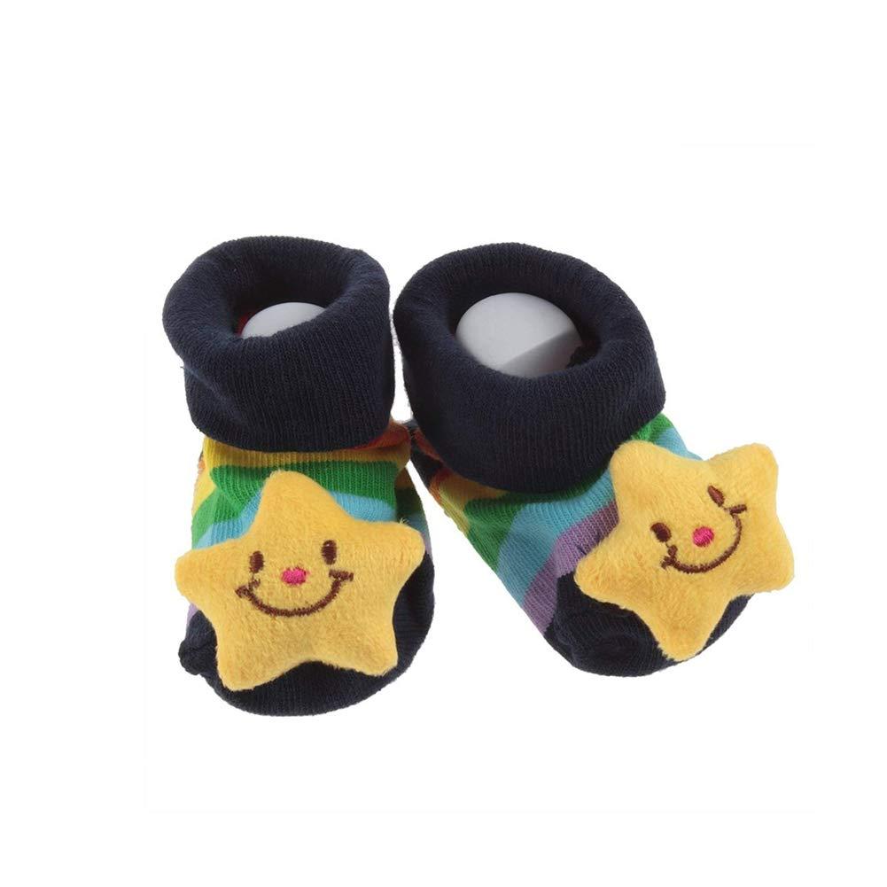 DierCosy Infant Newborn Unisex Socks Cute Three-Dimensional Cartoon Stars Anti-Slip Slipper Socking Shoes 0-12 Month New BabyProducts