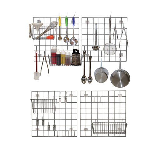Wall Mount Storage and Drying Kit - Gray Epoxy (Grey) - 24'' x 24'' by Vision