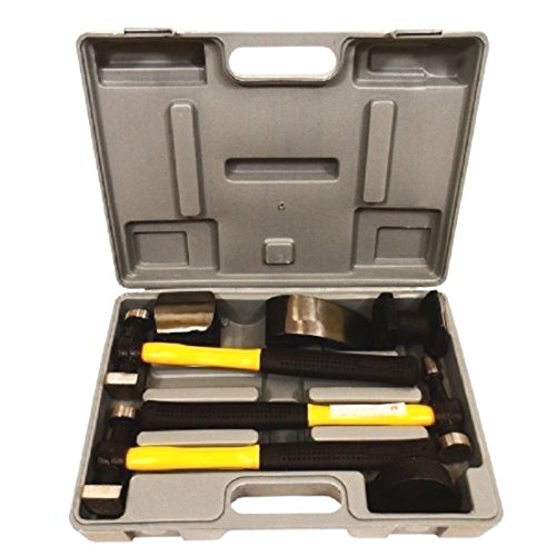 7pc Fiberglass Auto Body Repair Tools Fender Tool Kit Hammer Dolly Dent Bender