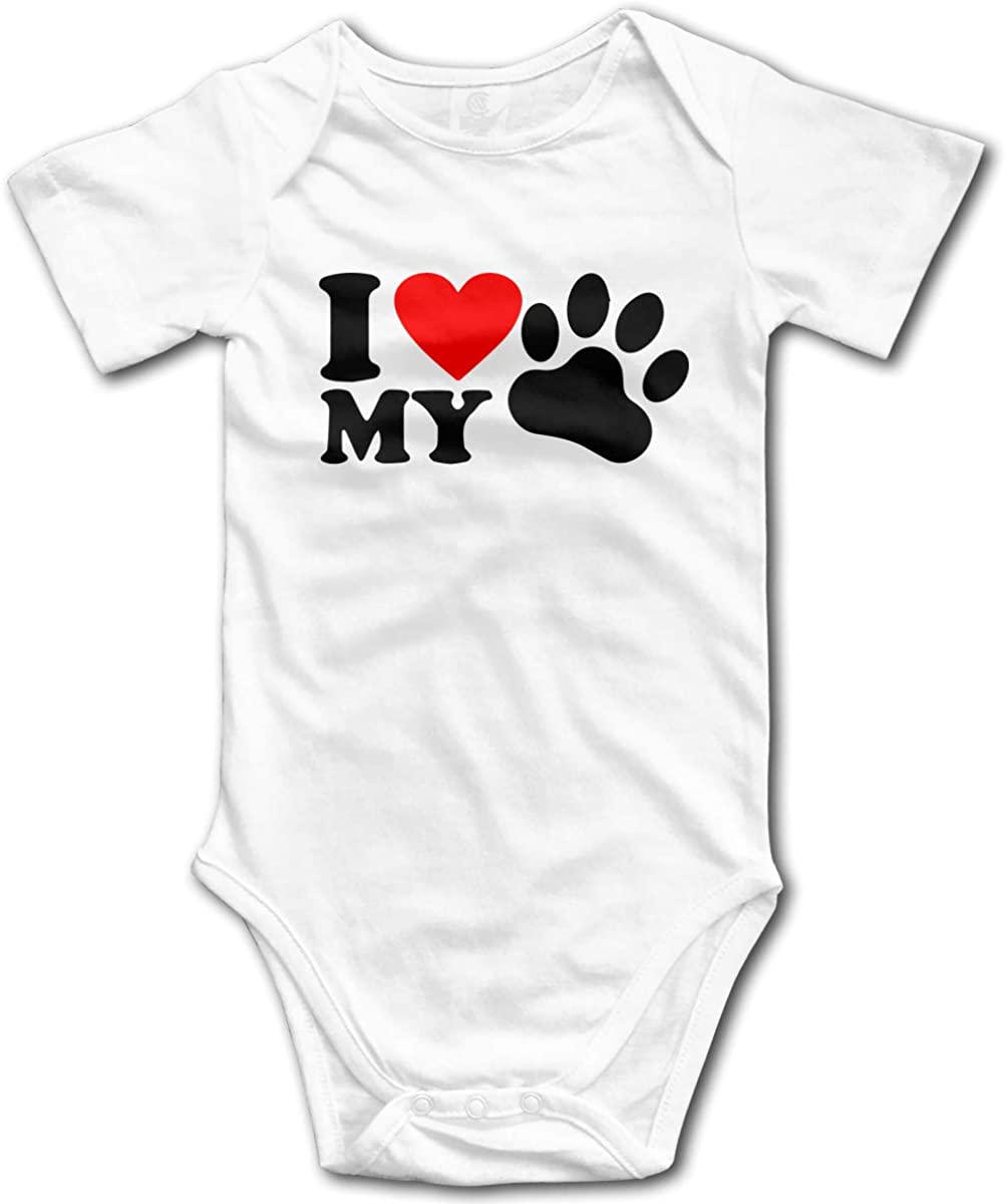 CDHL99 Life is Better with A Dog Baby Unisex Short Sleeve Bodysuit Rompers 0-24 Months