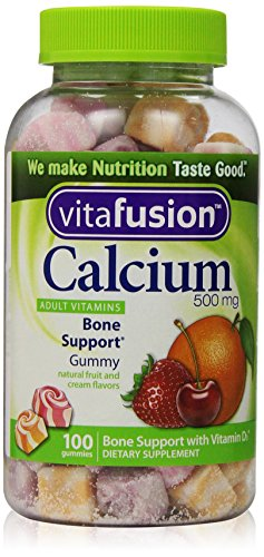 Vitafusion Calcium 500 mg, Gummy Vitamins For Adults, 100 Count