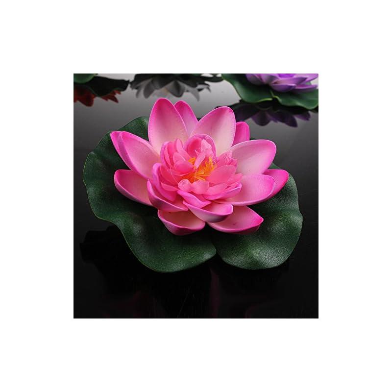 silk flower arrangements sealike 4 pcs large artificial floating foam lotus flower pond decor water lily with stylus