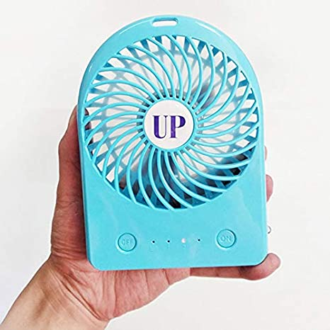 Blue MoGist USB Fan Mini Fan Handheld Fan Powerful Small Personal Portable Fan USB Rechargeable Cooling Fan for Kids Adults Home Office Outdoor Travel