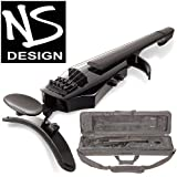 NS Design WAV-5 Electric 5-String Gloss Black Violin with Hard Case