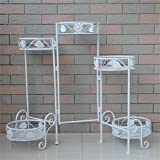 AIDELAI Metal European Style Flower Racks Creative Indoor And Outdoor Living Room Balcony Decoration 5 Layers Retro Flower Pot Rack Patio Garden Pergolas ( Color : #2 )