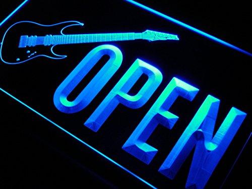 ADV PRO j854-b OPEN Guitars Shop Rock n Roll Neon Light Sign
