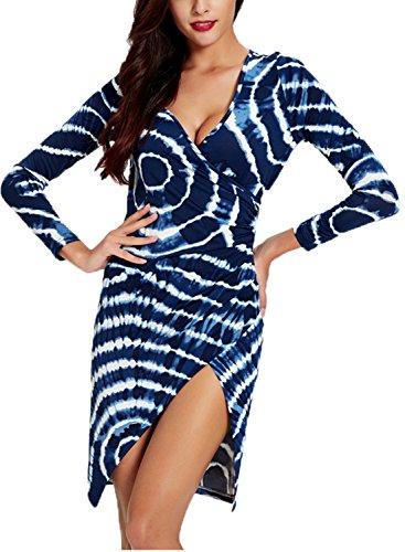 Wellwits Womens Wrap Bodycon Dress