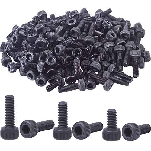 BronaGrand Total 120pcs 12.9 Grade Alloy Steel Hex Bolt Socket Head Cap Screws(M3x6mm,M3x8mm,M3x10mm Each 40Pcs)