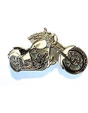 Witte Custom Chopper Bike Biker Motorfiets Chop Motorbike Metalen Rocker Badge