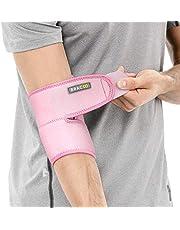 BRACOO Ellenbogenbandage – medizinischer Ellenbogenschoner | atmungsaktive Ellenbogenstütze mit Klettverschluss für Damen und Herren | ES10