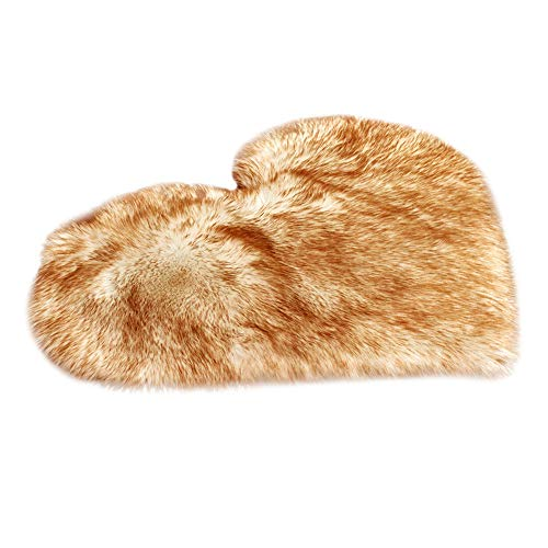 DZT1968 Extremely Soft No Hair Removal Wool Imitation Sheepskin Rugs Faux Fur Non Slip Bedroom Shaggy Carpet Mats Eco-Friendly Luxurious Design (B) ()