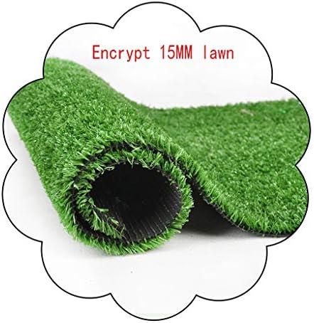 XEWNEG 15MM人工芝、屋外バルコニー屋根壁の装飾に適した暗号化された防水ノンスリップ涙耐性が簡単にきれいな、幅2メートル (Size : 2x1M)