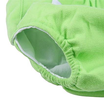 Couche-culotte de B/éb/é Section Mince 0-12 Mois Couvre-couche B/éb/éCouches En Tissu Lavable R/églable R/éutilisable Coton Rose