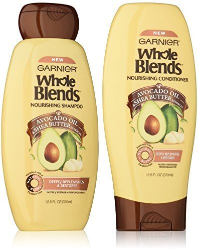 Garnier Whole Blends Avocado Shea Nourishing Shampoo and ...