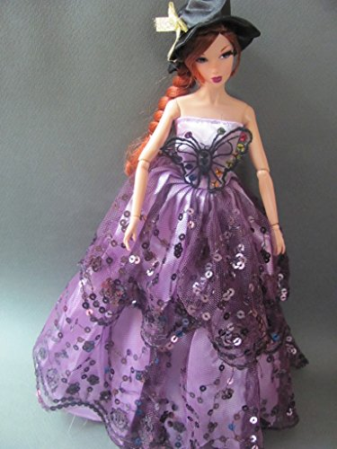 Barbie Doll Clothes Dress: Halloween Dress with Wings