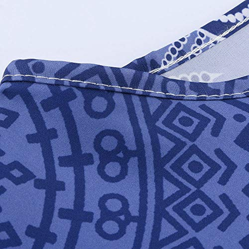 Grande Casual Imprim Shirt Longues Chemisier 5XL Oversize T Tops S T Tops Bleu Blouse Solike Shirt Manches Femme Taille Femmes Chemisier UO6qnC