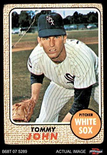 1968 Topps # 72 Tommy John Chicago White Sox (Baseball Card) Dean's Cards 2 - GOOD White Sox