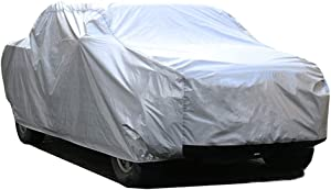 """Kayme 6 Layers Truck Cover Waterproof All Weather, Heavy Duty Outdoor Pickup Cover Sun Uv Rain Protection, Universal Fit (Length Up to 228"""") L"""