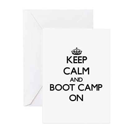 Amazon Cafepress Keep Calm And Boot Camp On Greeting Cards