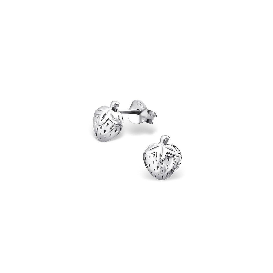 Girls Strawberry delicate Ear Studs 925 Sterling Silver