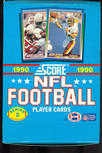 - 1990 Score Football Wax Pack Box series 2 Two Set CASE FRESH