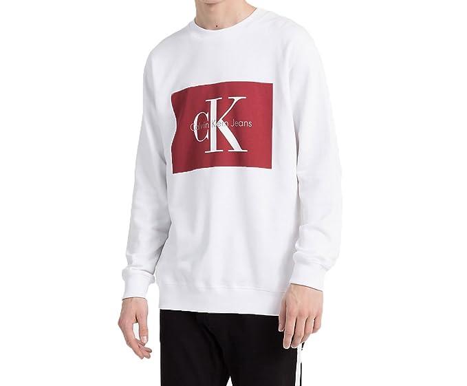 Calvin Klein Jeans J30J306988 HOTORO Sudadera Hombre Bright White L