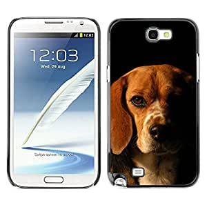 Vortex Accessory Carcasa Protectora Para SAMSUNG GALAXY NOTE 2 N7100 - Beagle Labrador Retriever Dog Puppy -