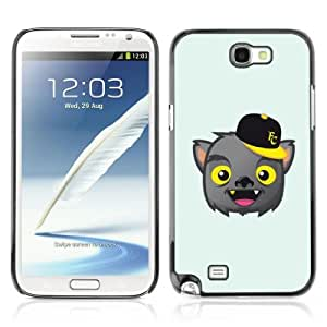 Designer Depo Hard Protection Case for Samsung Galaxy Note 2 N7100 / Bat Vampire
