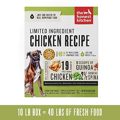 Honest Kitchen Limited Ingredient Chicken Dog Food Recipe  10 lb box - Thrive (Recipe Box Chicken)