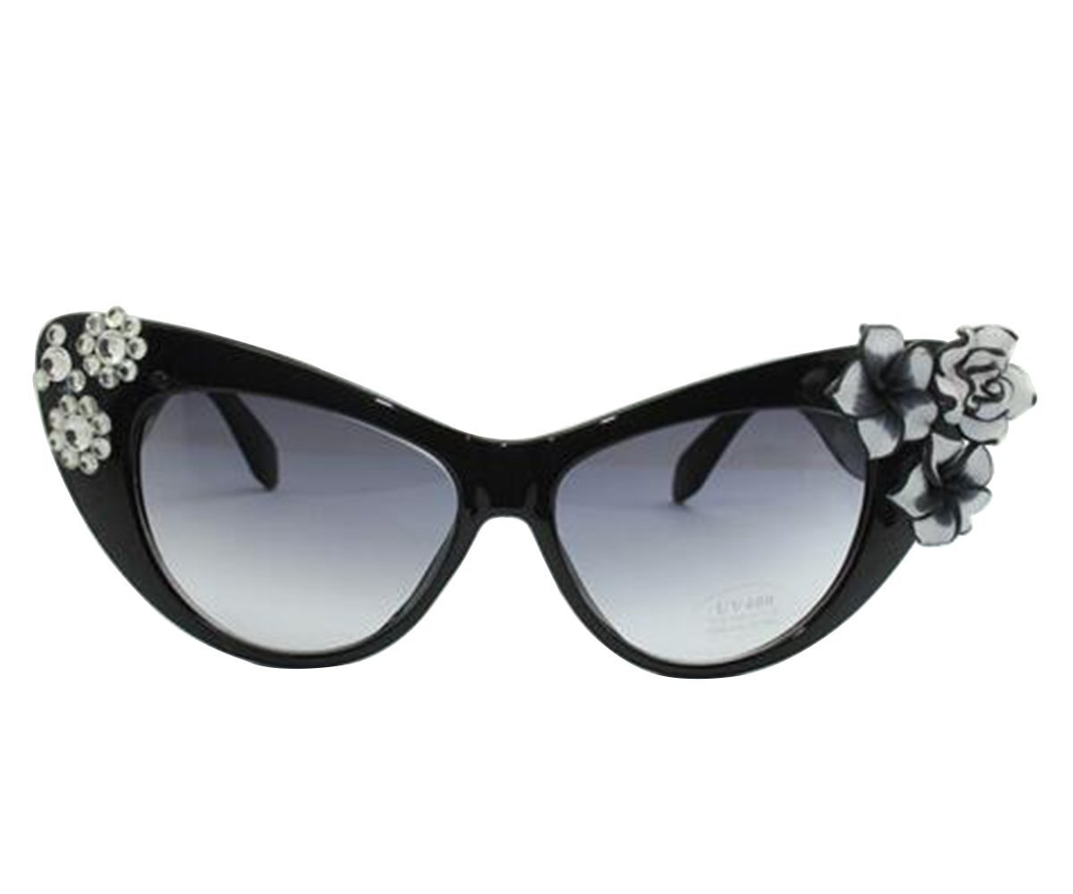 62c239818b789 Amazon.com  Aimeart Retro Vintage Women s Eyeglasses Cat Eye Glasses  Plastic Frame with Floral Decor NO LENS