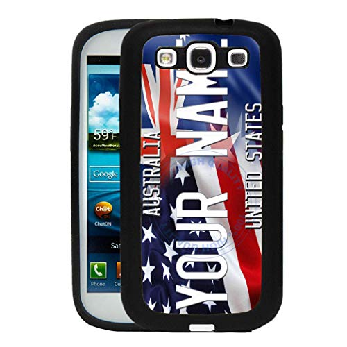 (BRGiftShop Personalize Your Own Mixed USA and Australia Flag Rubber Phone Case For Samsung Galaxy J7 2016)