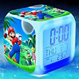 Enjoy Life : Cute Digital Multifunctional Alarm Clock With Glowing Led Lights and Super Mario sticker, Good Gift For Your Kids, Comes With Bonuses Part 3 (18)