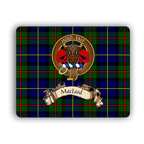 Scottish Clan MacLeod Hunting Tartan Crest Computer Mouse Pad